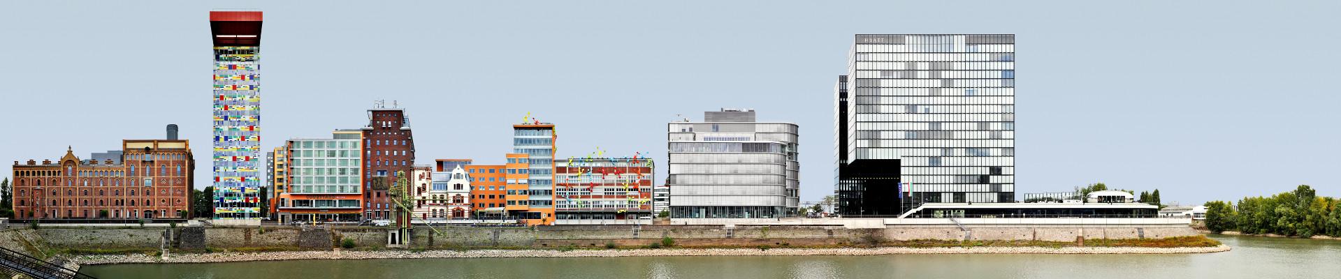 Medienhafen in Düsseldorf, Germany