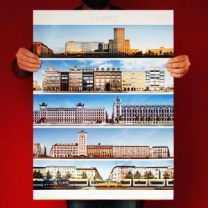 Leipzig Panorama Poster