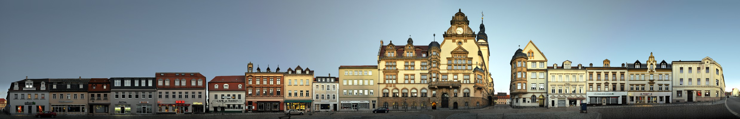 Marketplace / Town Hall • Werdau • Germany
