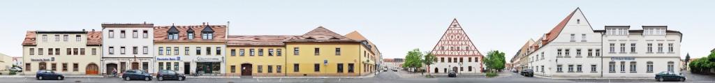 Grimma Rathaus und Markt Panorama