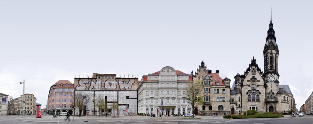 Graffiti Krieg Leipzig Panorama