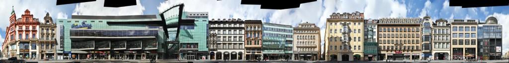 Leipzig street panorama