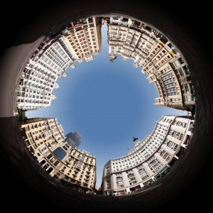 planet projection Madrid Gran Via