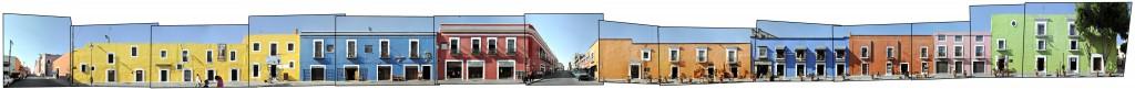 callejon de los sapos Puebla Mexiko Panorama 6 Sur