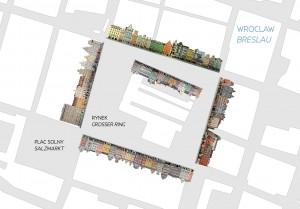 Wroclaw Rynek Ring Breslau Map Karte 3S